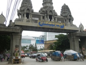 Grenze Thailand / Cambodia in Poipet