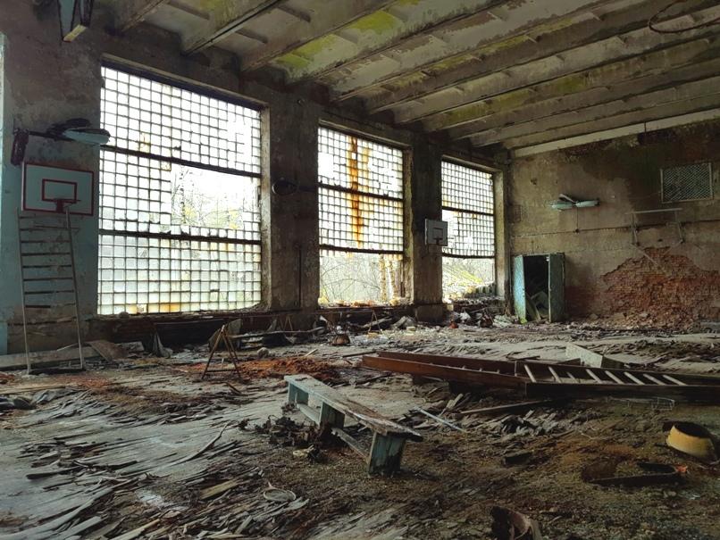 Prypjat Sporthalle - Tschernobyl Sperrzone
